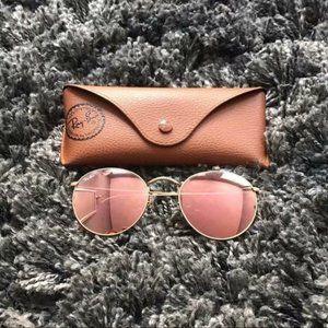 Ray-Ban 3447 Round Metal Mirror Sunglasses 50MM